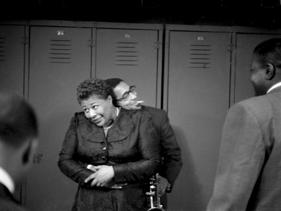 Ella and Dizzy, 1950. Photo by Herman Leonard