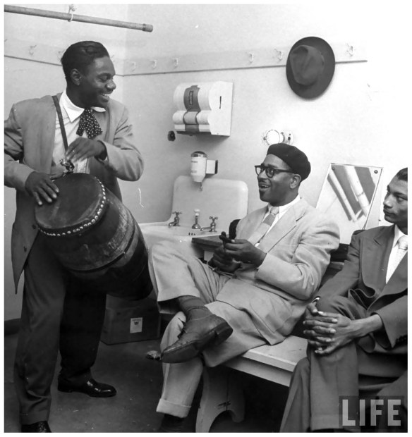 Chano and Dizzy back stage in 1947