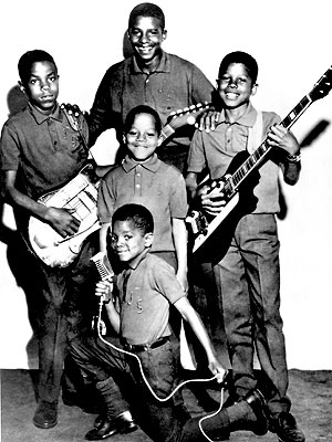 Early Jackson Five Promotional Photo. What the hell is Michael doing?