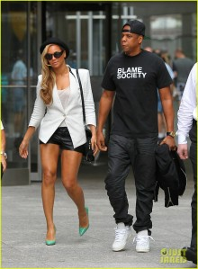 Jay Z and Mrs. Carter in her feminist heels.